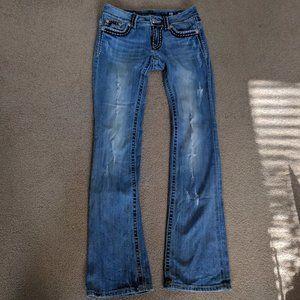 Miss Me JP5014-10 distressed light wash jeans 27